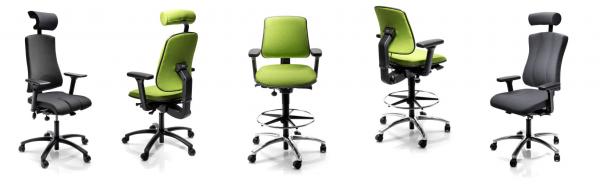 Luxe ergonomische bureaustoelen op maat, kortere, langere, bredere mensen.