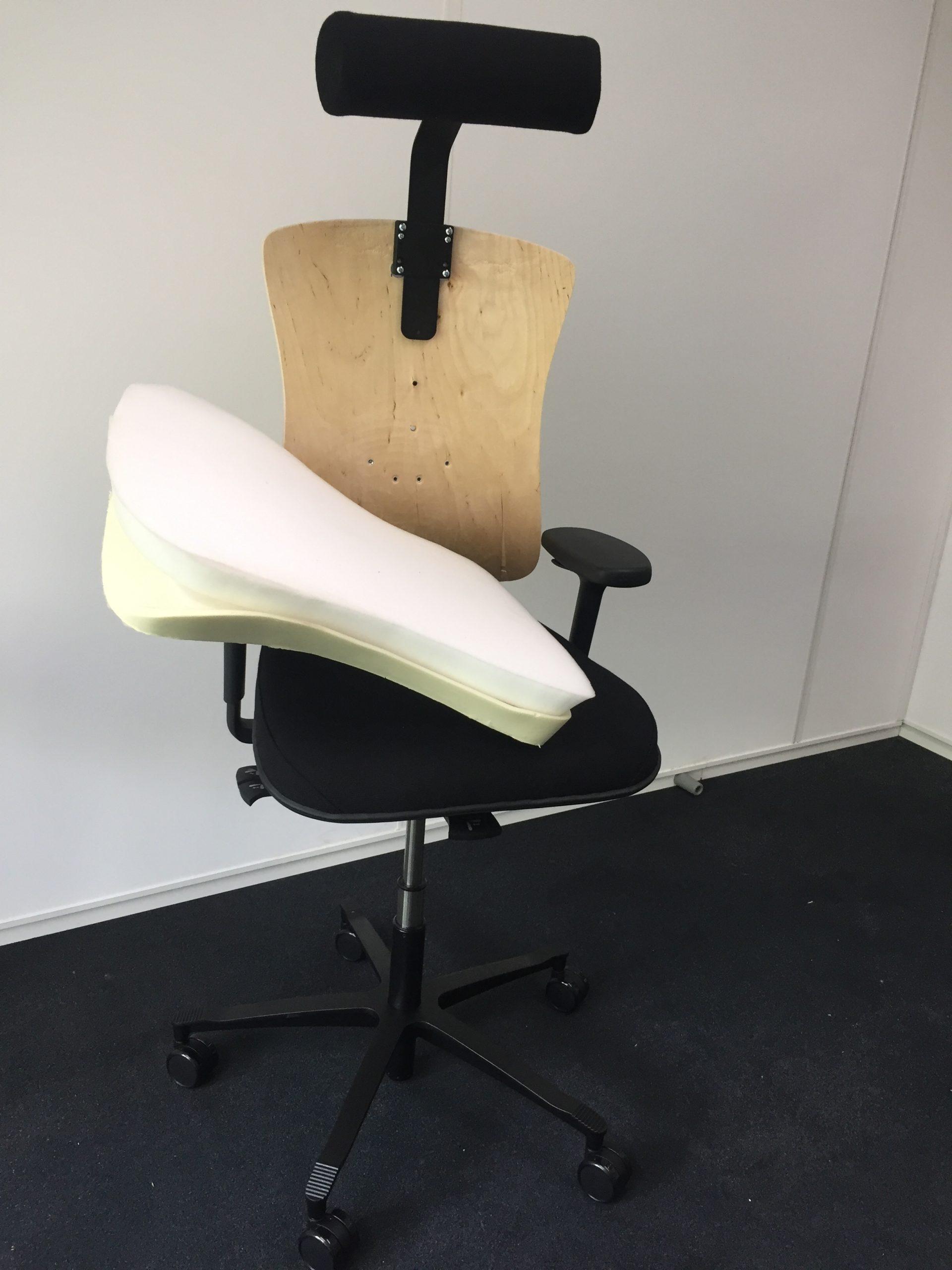 bureaustoel op maat met neksteun