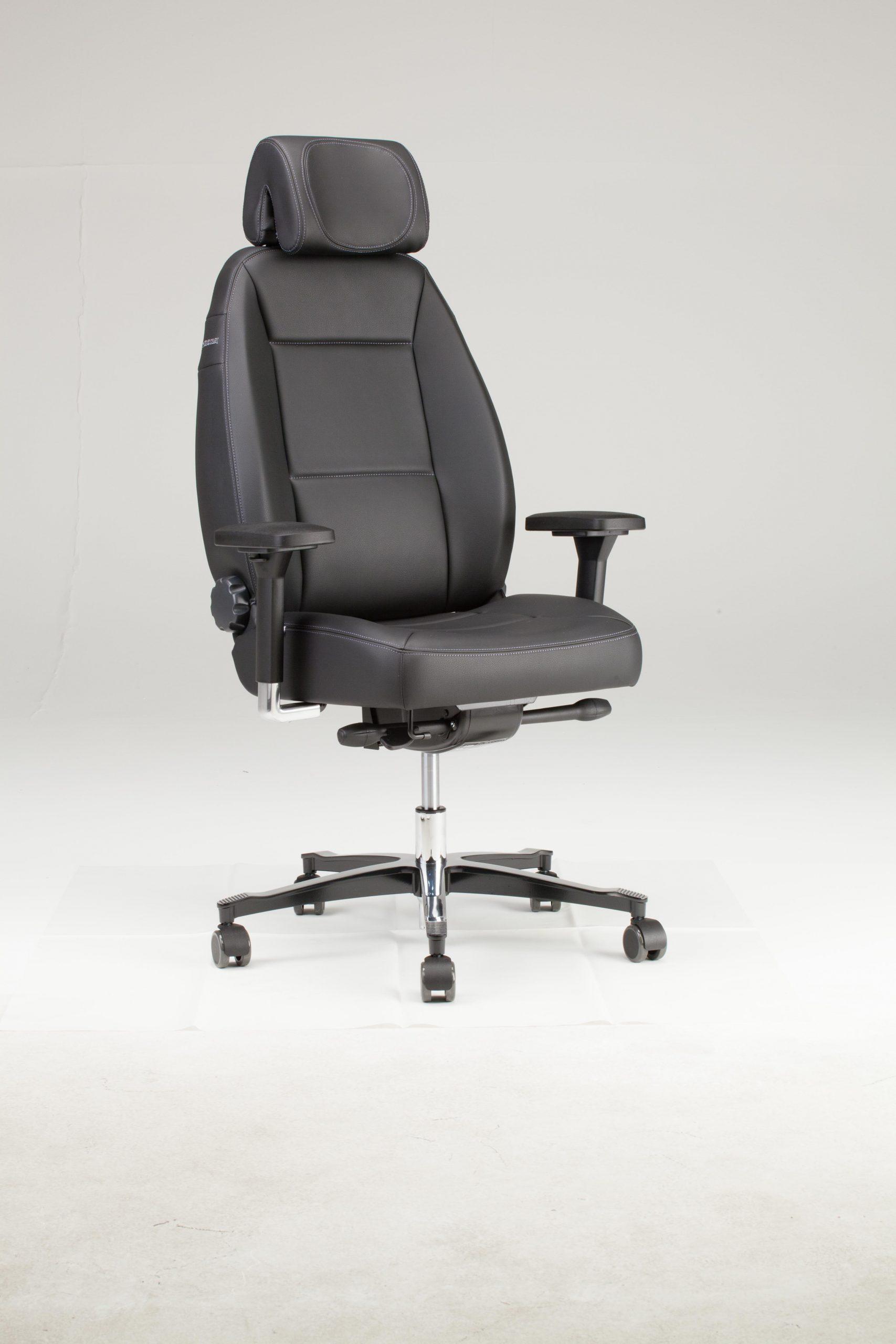 24/7 uur bureaustoel Throna met 3 D hoofdsteun en 4D armleuningen